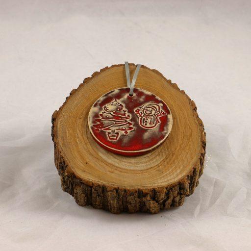 Geschenkanhänger Weihnachten - Petra Zobl Keramik Schneeman und Baum