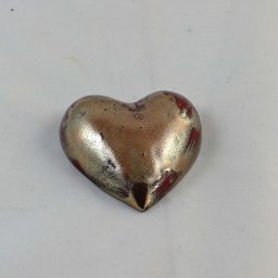 Petra Zobl Keramik - Herz gold braun