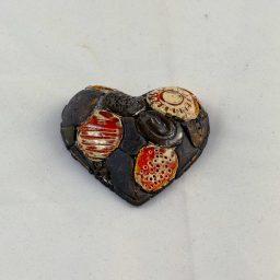 Petra Zobl Keramik - Herz metallic apfelsine