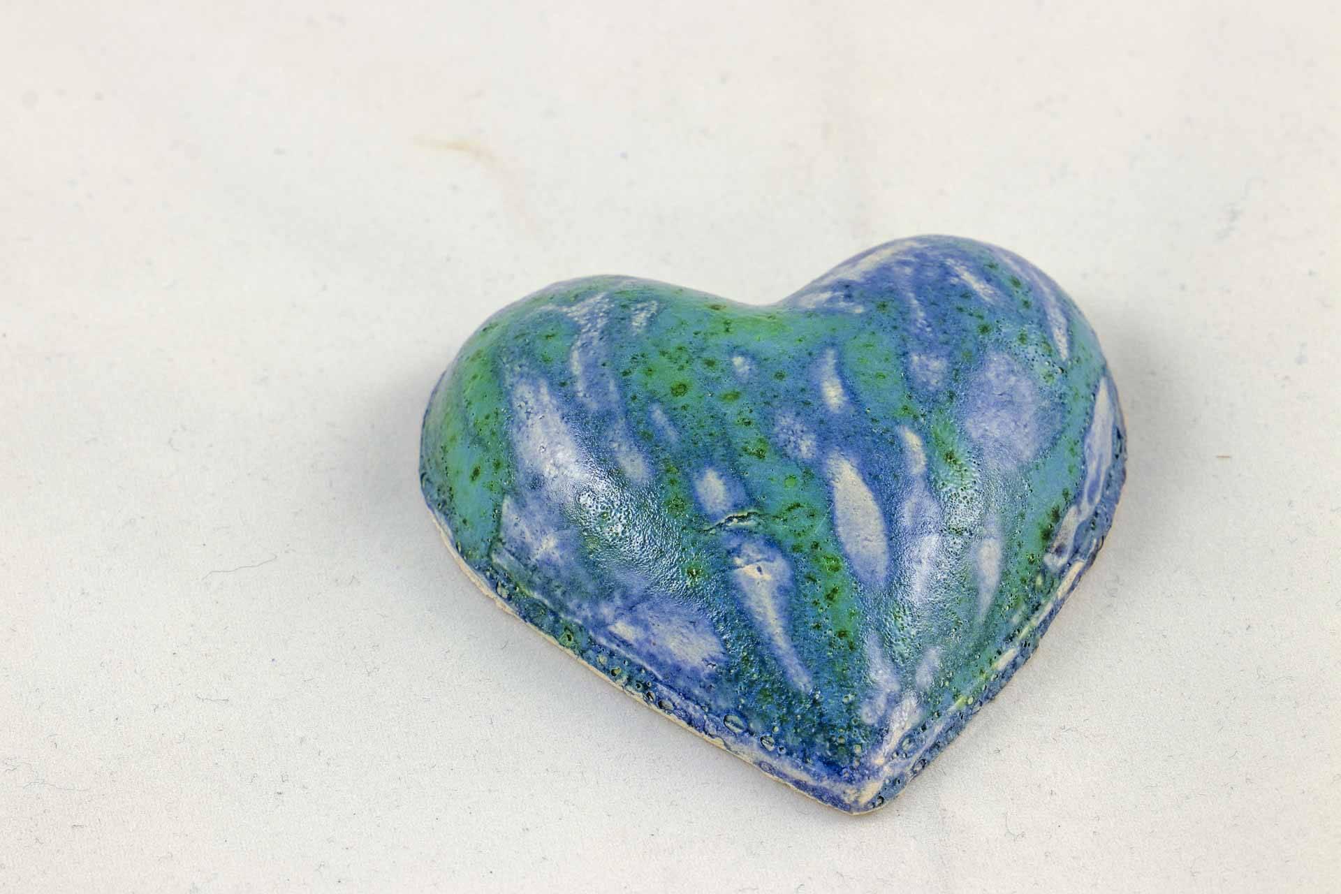 Petra Zobl Keramik - Herz sommerblau melone