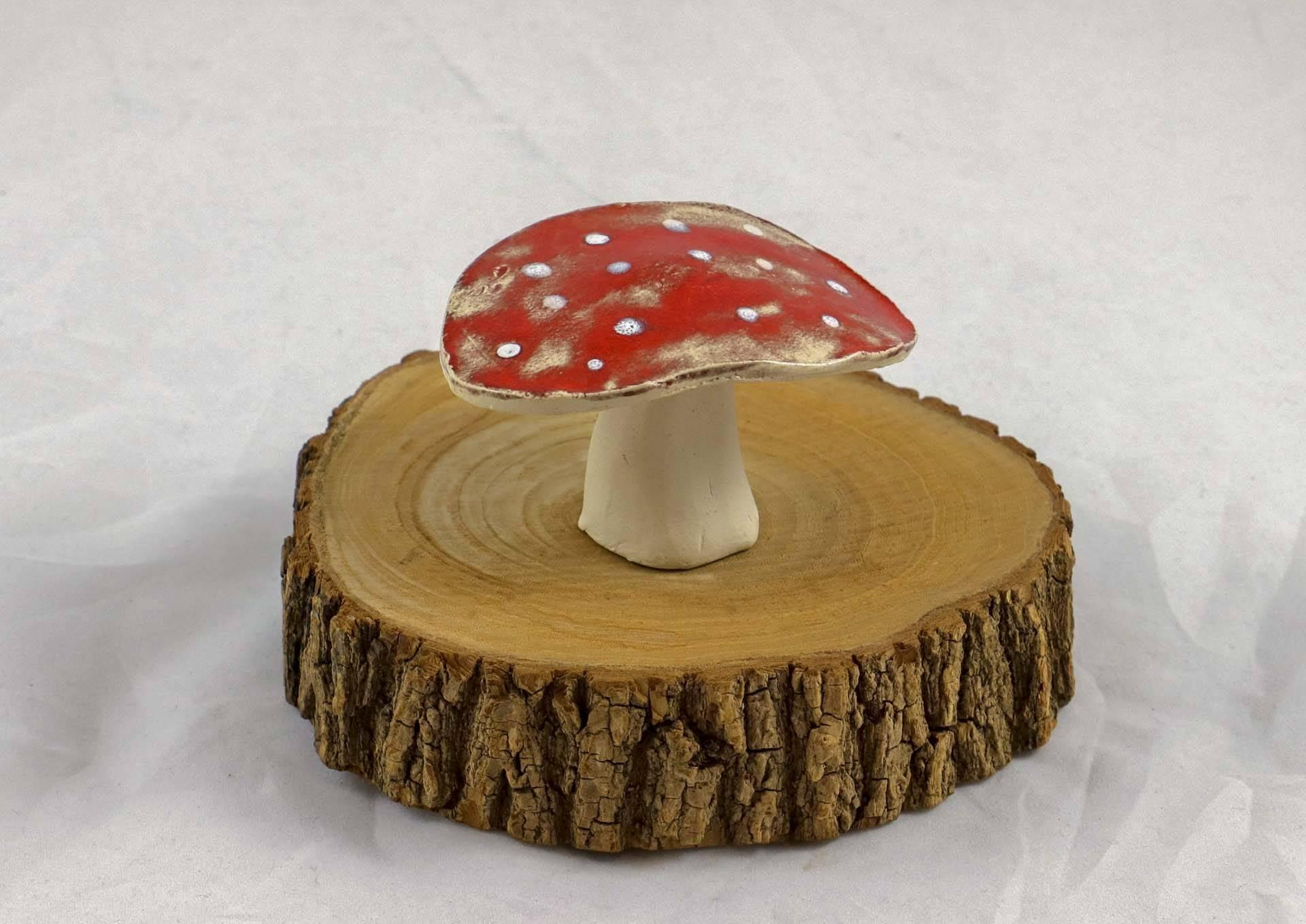 Petra Zobl Keramik - Pilz groß rot Glücksbringer