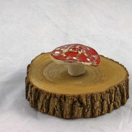 Petra Zobl Keramik - Pilz rot Glücksbringer