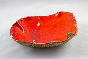 Petra Zobl Keramik - Schale apfelsine aussen Muster manganspinell 11