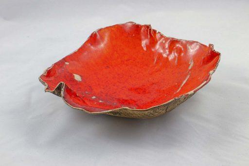 Petra Zobl Keramik - Schale apfelsine aussen Muster manganspinell 12