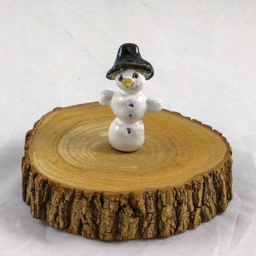 Petra Zobl Keramik - Schneemann mit Hut (2)