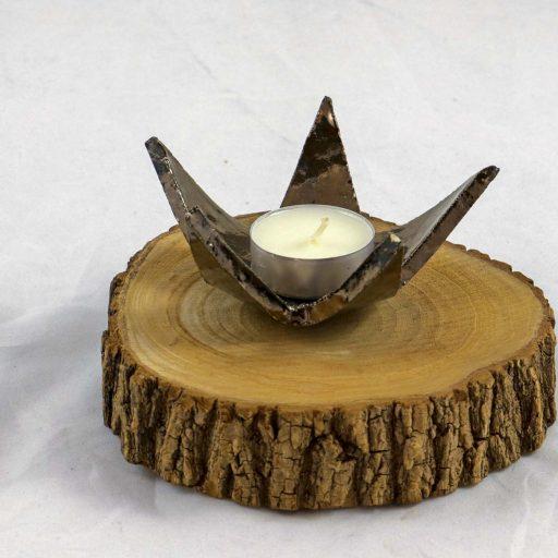 Petra Zobl Keramik - Stern für Teelicht gold schwarz