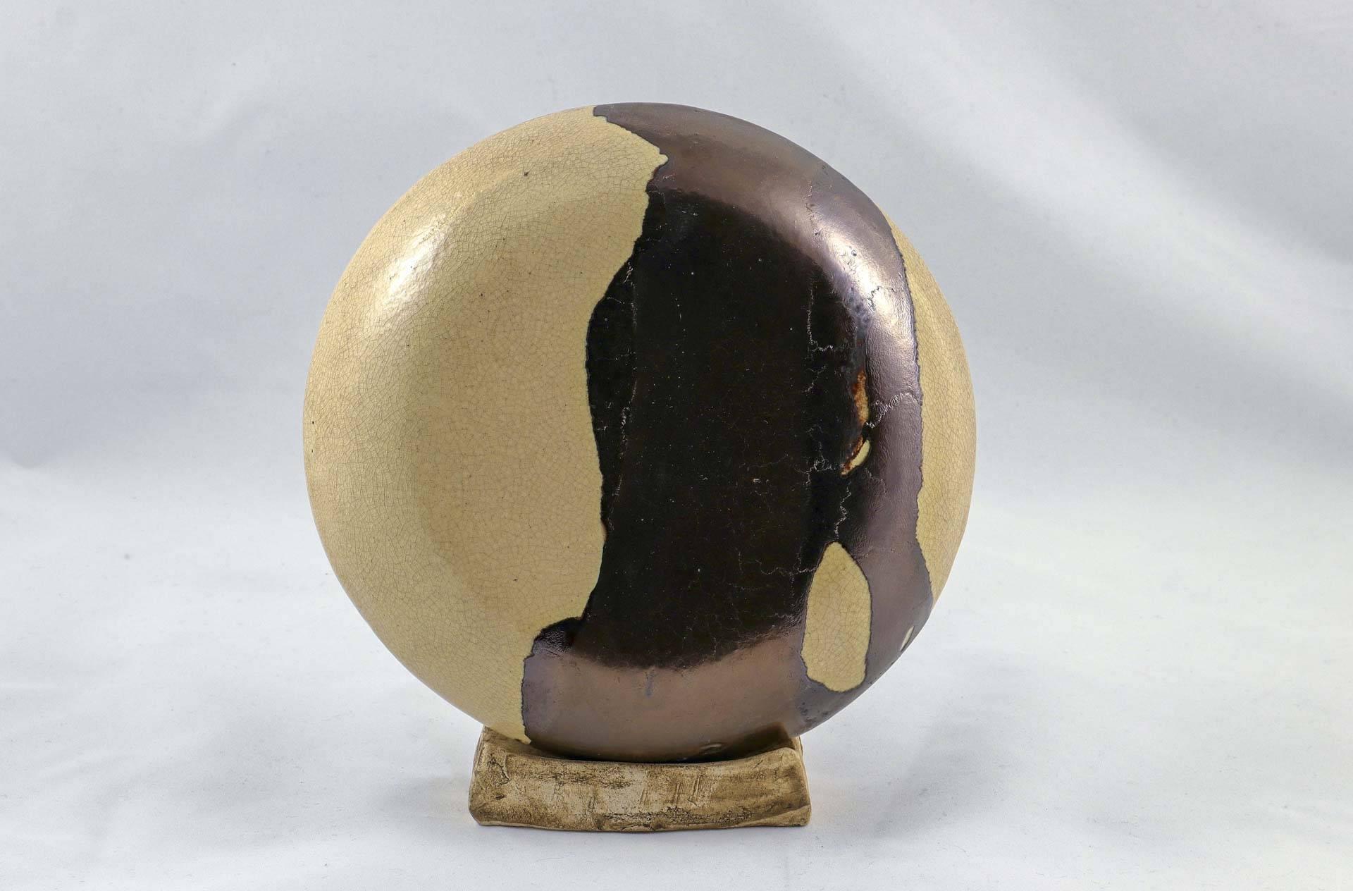 Petra Zobl Keramik - Ufo 1 Seite transpartent craquele bronzit