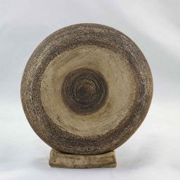 Petra Zobl Keramik - Ufo Art 2 Seite Manganspinell aufgeraut