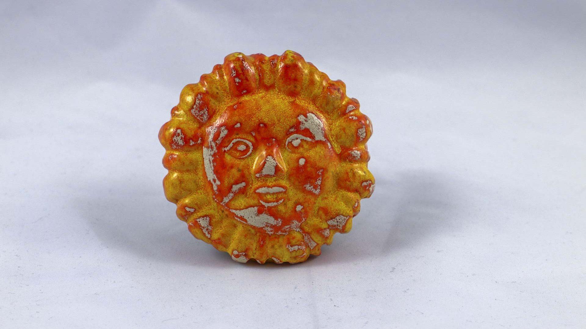 Petra Zobl Keramik - Halbkugel mit Sonne apfelsine 1