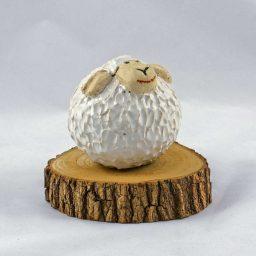 Petra Zobl Keramik - Schaf zirkonweiß unglasiert leicht Manganspinell 18